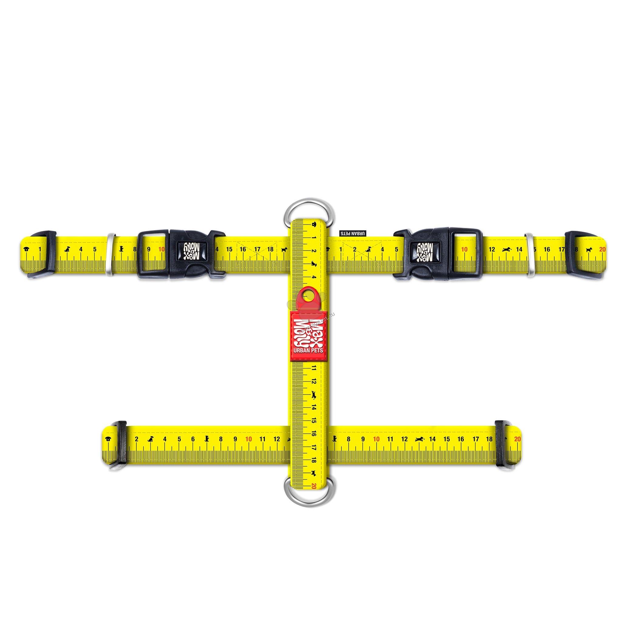 Max Molly H-Harness Ruler XS - нагръдник за кучета с обиколка на врат 24 - 39 см., гърди 32 - 40 см. / 10 мм. и тегло до 9 кг.