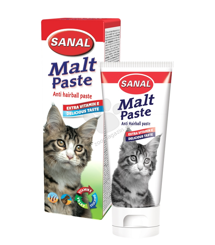 Sanal Cat Malt Anti-Hairball paste for cats - малцова паста 100 гр.