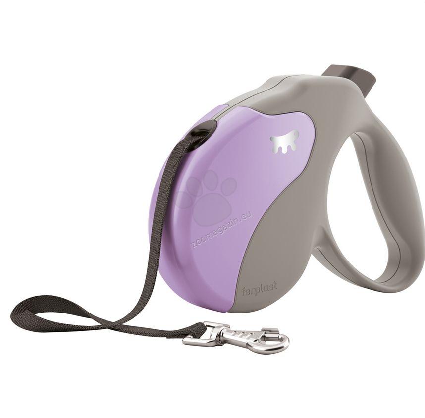 Ferplast - Amigo Tape L Beige Violet - 5 метра лента, за кучета с тегло до 50 кг.