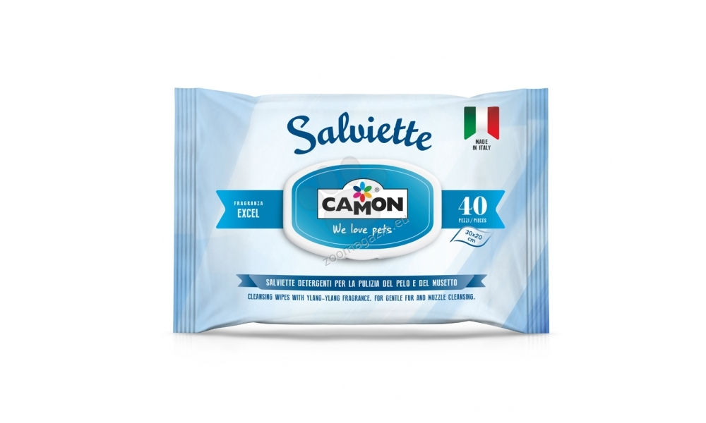 Camon Cleaning wipes Excel - мокри кърпички с алое вера 40 броя