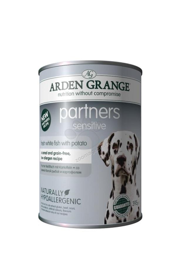 Arden Grange - Partners Sensitive White Fish - с бяла риба 395 гр.