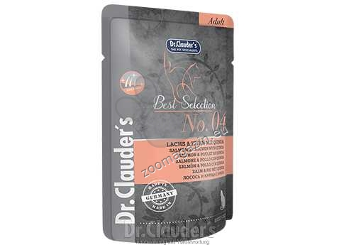 Dr.Clauder Best Selection N4 - премиум храна с месо от сьомга, пилешко месо и киноа 85 гр.