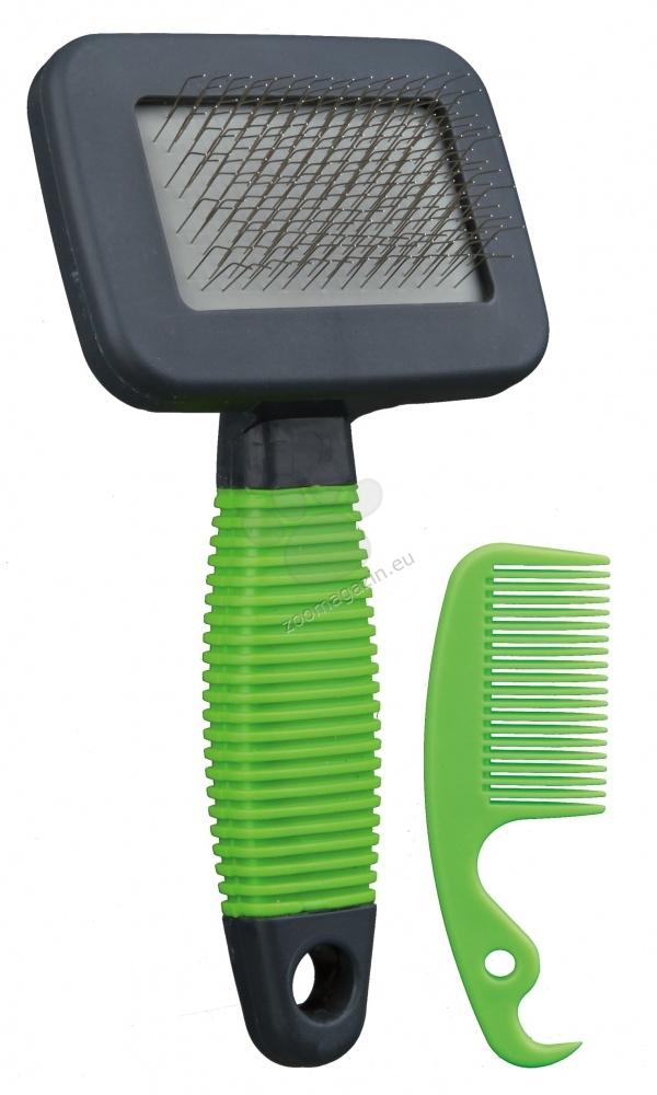 Trixie Soft Brush - Βούρτσα και χτένα 7 / 13 cm.