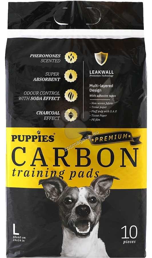 Puppies Carbon - хигиенна подложка с активен въглен 60 / 60 см., 10 броя
