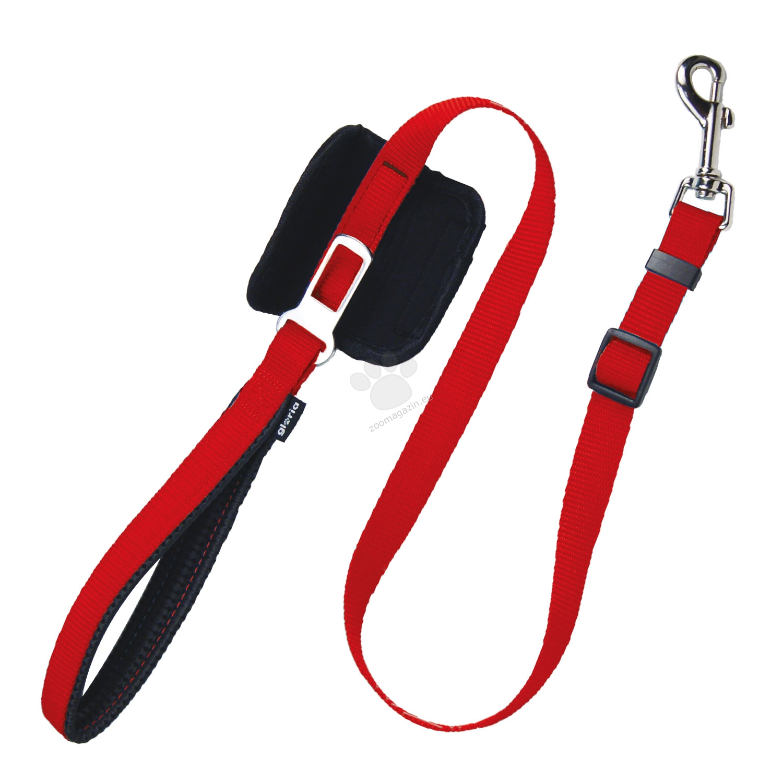 Gloria - повод със закопчалка за автомобилен колан, 70-102 см х 20 мм /червен, розов, син, черен/
