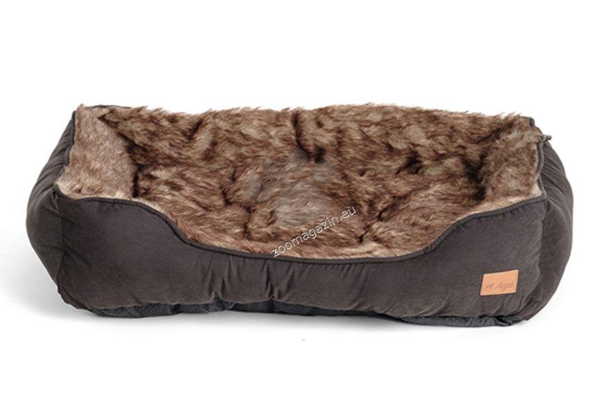 Agui Furry Bed - меко легло 61 / 48 / 18 см. / черно, червено, зелено /