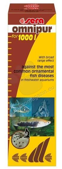 Sera - Omnipur  - с много добър ефект срещу най-често срещаните болести при декоративните рибки в сладководния аквариум 50ml