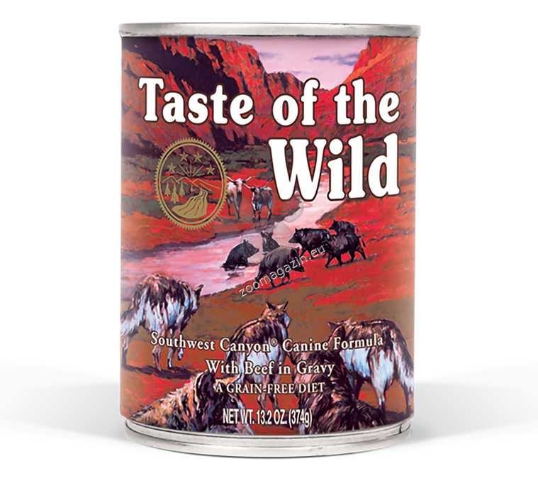Taste of The Wild Southwest Canyon Canine Formula - с прясно говеждо месо в сос грейви 390 гр.