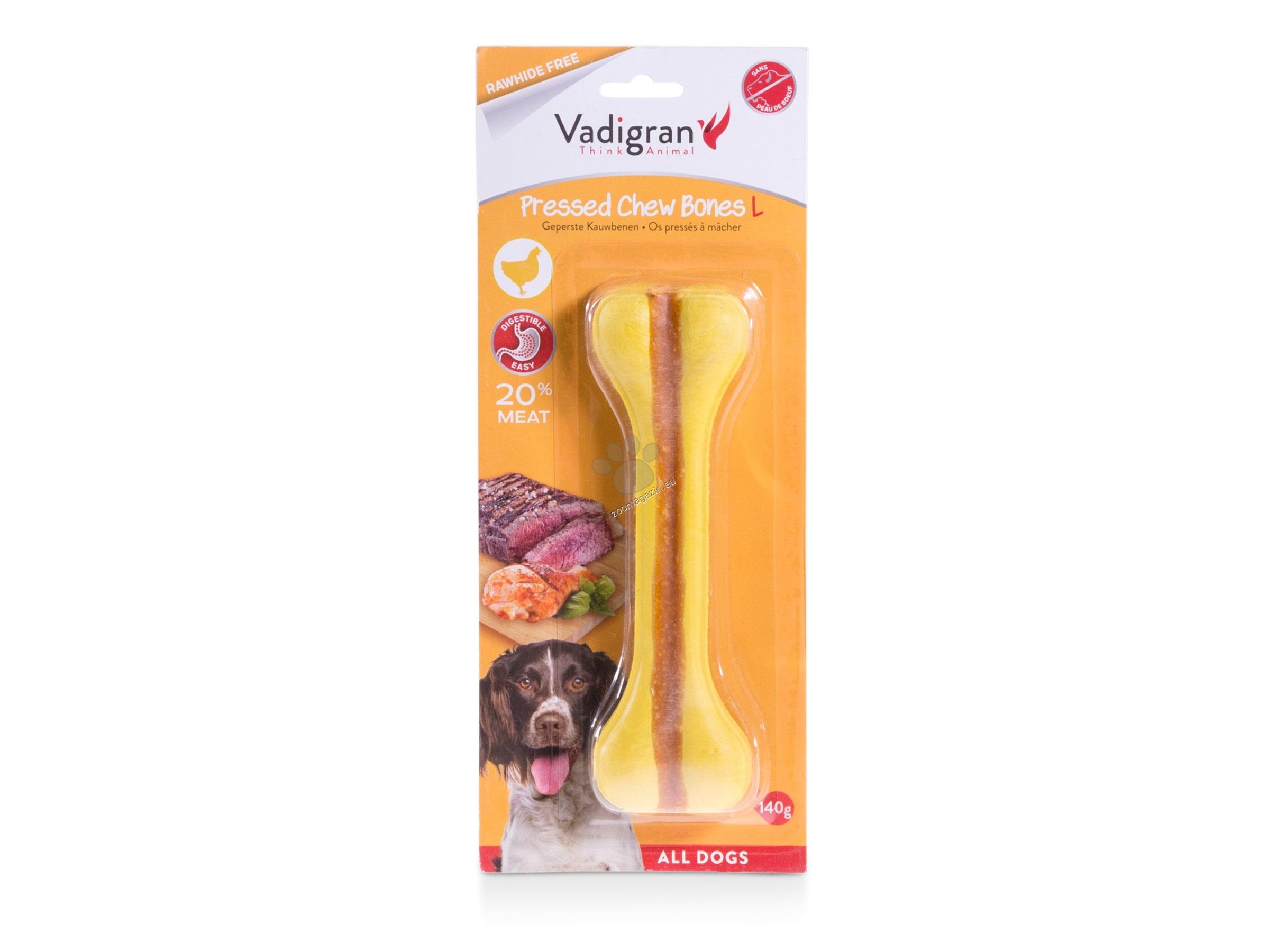 Vadigran - Pressed Chewbone - кокалче за бели зъби и висока устна хигиена 140 гр. / 18 см.