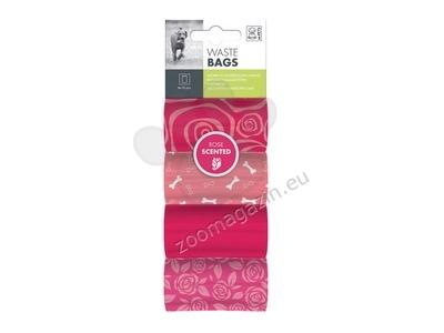 M-Pets Dog Waste Bags Rose - 4 Rolls - ароматизирани пликчета / роза / 4 ролки по 15 броя