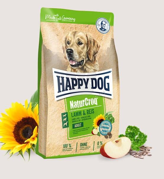 Happy Dog NaturCroq Lamm & Reis -  пълноценна храна с агнешко месо, за кучета с чувствителен стомах и кожа, подходяща за всички породи над 12 месеца 15 кг.