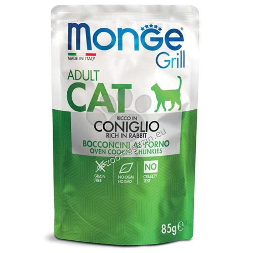 Monge Grill Adult със заешко – пауч с хапки в желе – за котки в зряла възраст 85 гр.