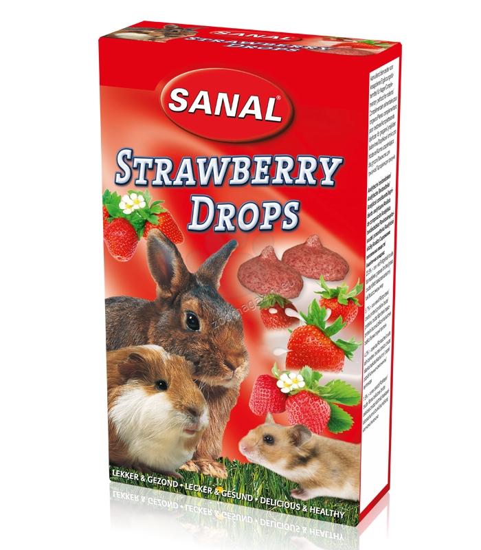 Sanal Rodent Strawberry Drops - деликатесно лакомство с ягоди 45 гр.