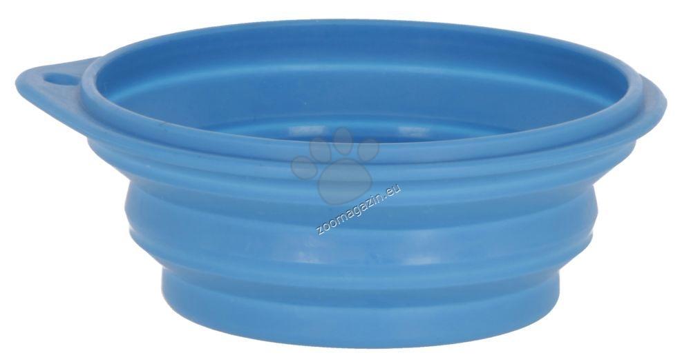 Kerbl Silicon travel bowl - преносима сгъваема купичка за храна и вода 250 мл.