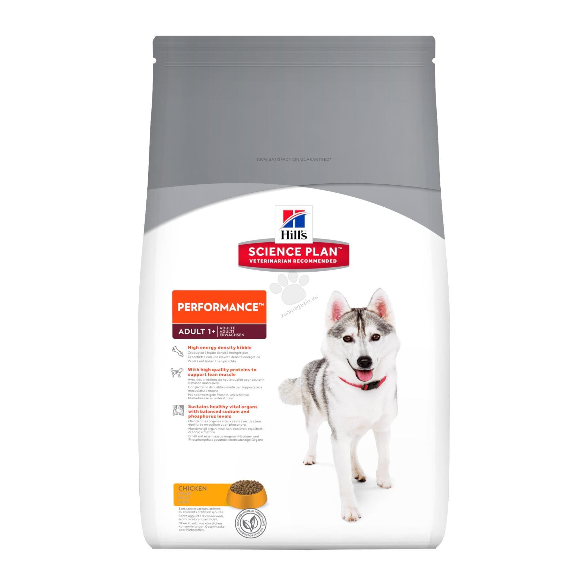 Science Plan Canine Adult Performance Chicken - Кучета с повишени енергийни нужди (Работни и ловни кучета, кучета в екстремни климатични условия капризни кучета) 12 кг.
