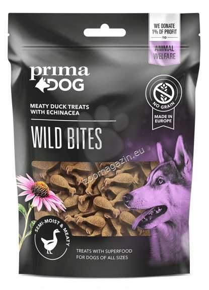 Prima Dog Wild Bites Duck with Echinacea - деликатесно лакомство с патешко месо 150 гр.