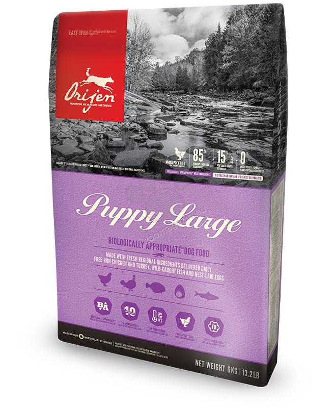 Orijen Puppy Large Breed New  Formula - за кучета големи и гигантски породи от 1 до 18 месеца - 11.4 кг.