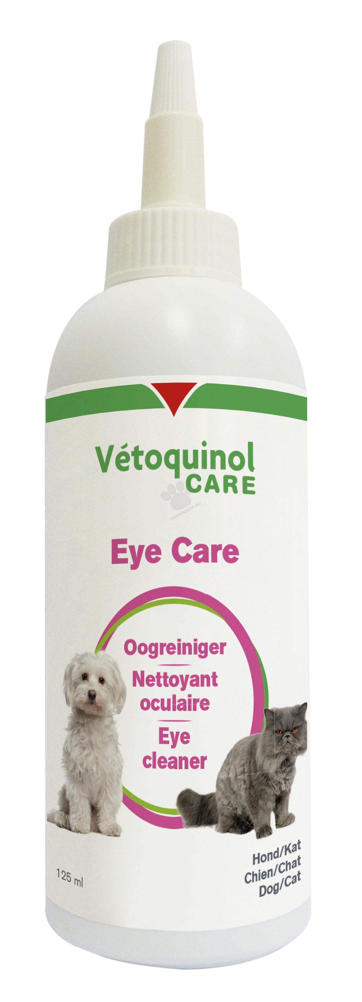 Vetoquinol - Eye Care - разтвор за почистване, подсушаване и успокояване на околоочната кожа при всички видове 125 мл.