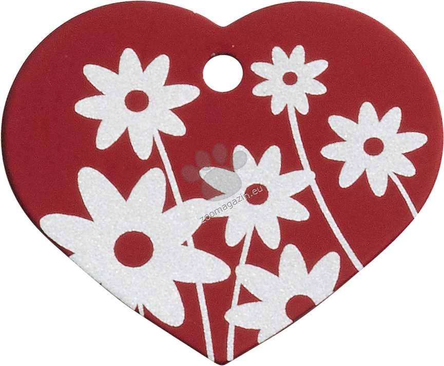 iMARC - Red Daisy Flower Heart