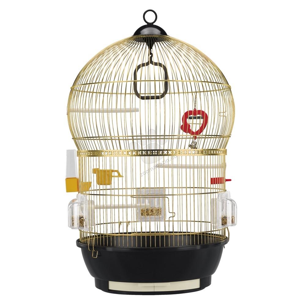 Ferplast - Bali Brass - клетка за малки птички с пълно оборудване 43.5 / 68.5 см.