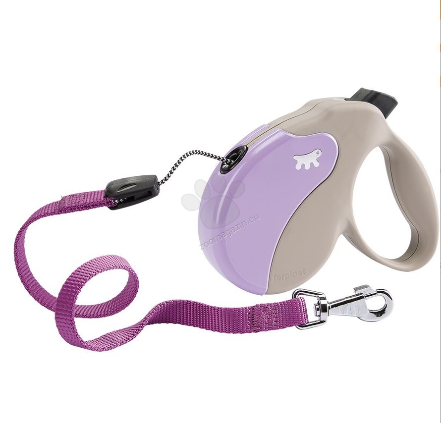 Ferplast - Amigo Cord L Beige Violet - 5 метра въже, за кучета с тегло до 50 кг.