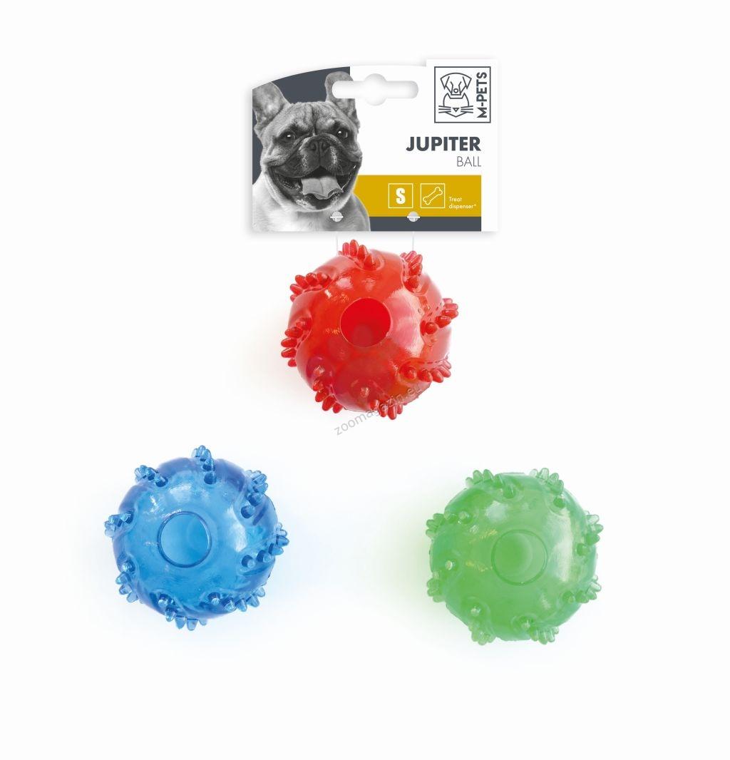 M-Pets Jupiter Ball - топка за лакомства 6.5 см. / зелена, синя, червена /