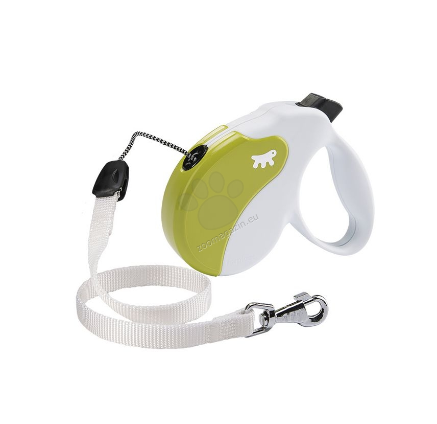 Ferplast - Amigo Cord M White Green - 5 метра въже, за кучета с тегло до 25 кг.