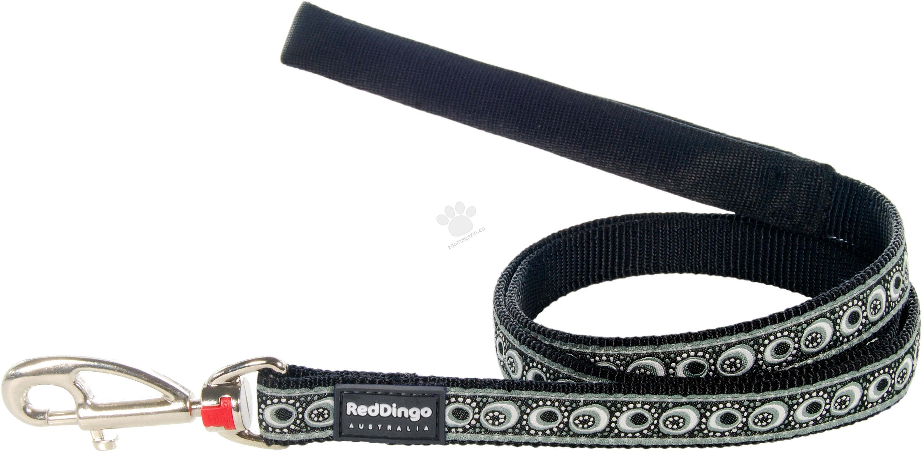 Red Dingo Fixed Length Lead Cosmos Black M - повод 120 см. / 20 мм.