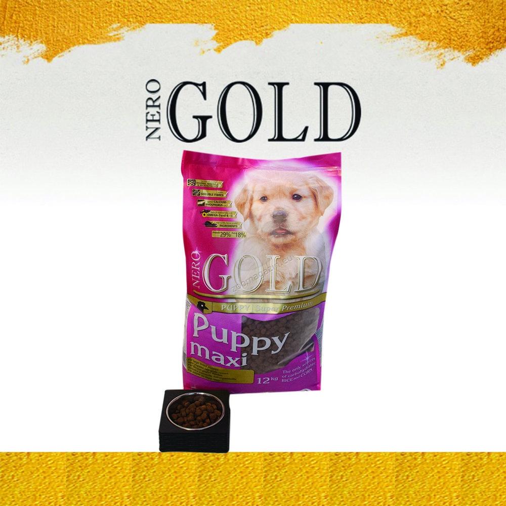 Nero Gold Puppy Large Breed - пълноценна храна за кучета големи и гигантски породи до 18 месечна възраст 12 кг.