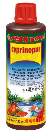 Sera - Ciprinopur - осигурява пълноценна защита на Вашите езерни риби 250 мл.