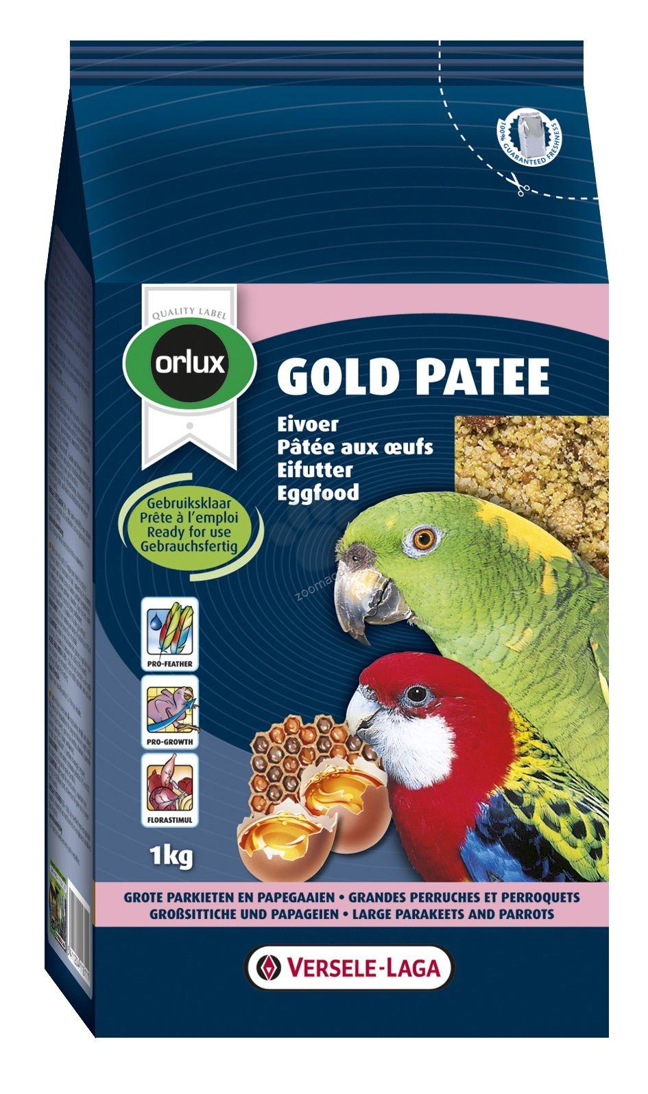 Versele Laga - Gold Patee Parakeet and Parrots - мека яйчна храна за средни и големи папагали 1 кг.