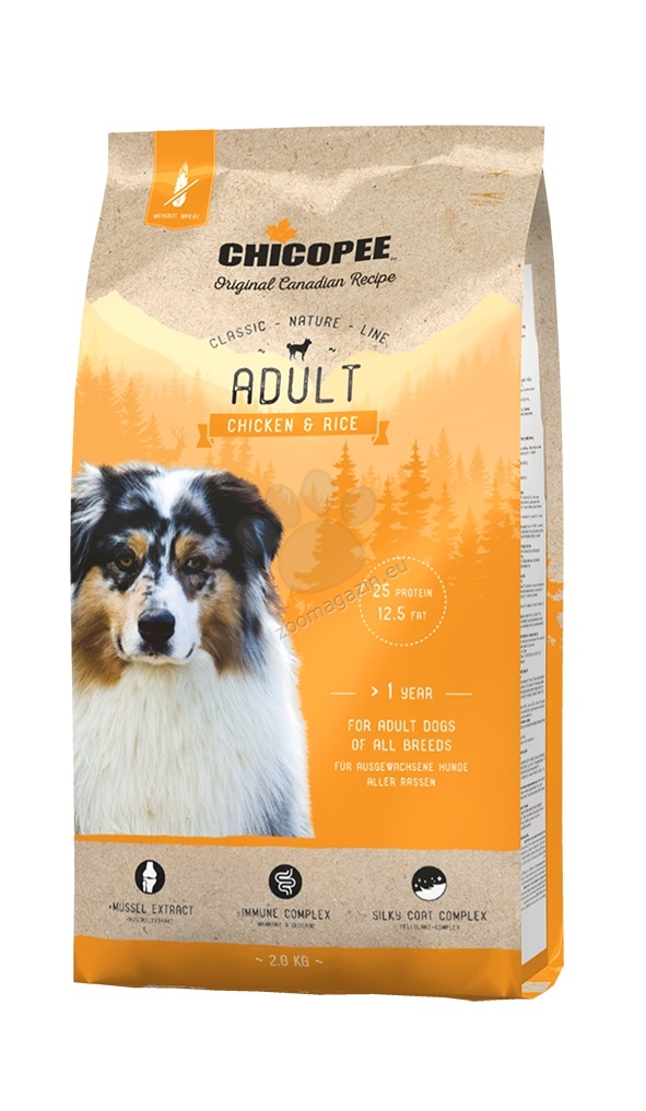 Chicopee Classic Nature Adult Chicken - храна за израснали кучета с пиле и ориз 15 кг. + ПОДАРЪК: 12 броя консерви Chicopee