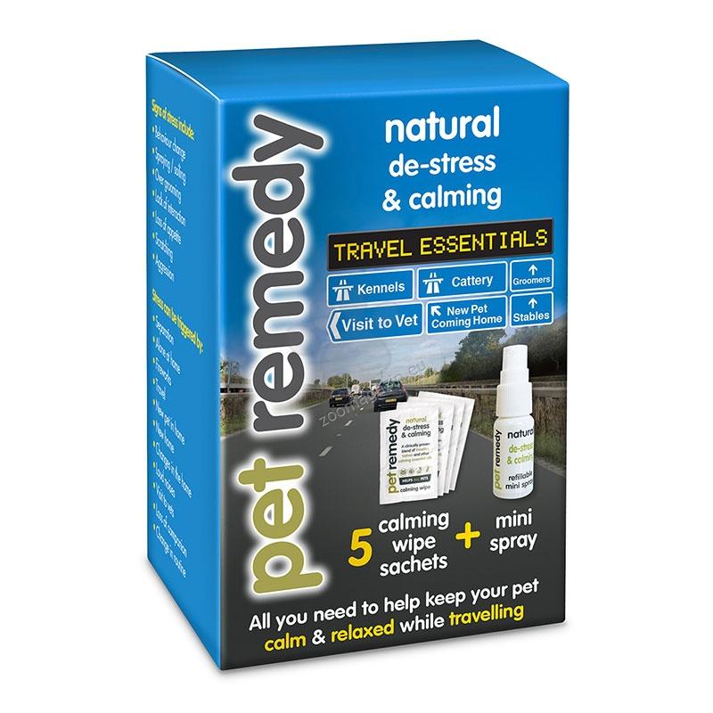 Pet Remedy Travel Essentials Kit - комплект за пътуване / мини спрей 15 мл. и 5 броя успокояващи кърпички /