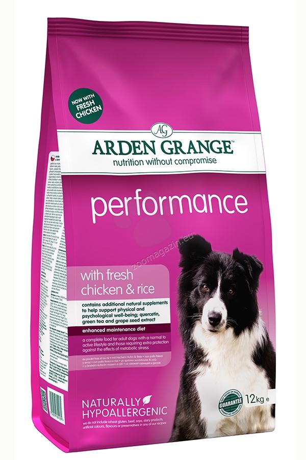 Arden Grange - Performance Chicken - богата на пилешко месо и ориз, за кучета живеещи на открито, работни, кърмещи и бременни 12 кг.