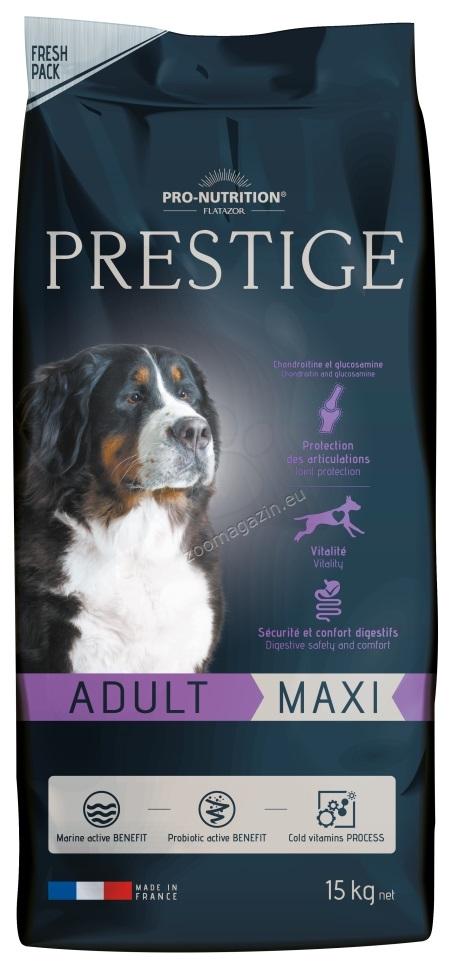 Flatazor Prestige Adult Maxi - пълноценна храна за кучета едри и гигантски породи от 1 до 6 години 15 кг. + 3 кг. ГРАТИС