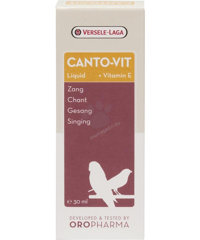 Versele Laga - Oropharma Canto-Vit Liquid - комплекс от витамини аминокиселини, обогатени с вит.Е за добри певчески данни и плодовитост за канари и финки, течен  30 мл.