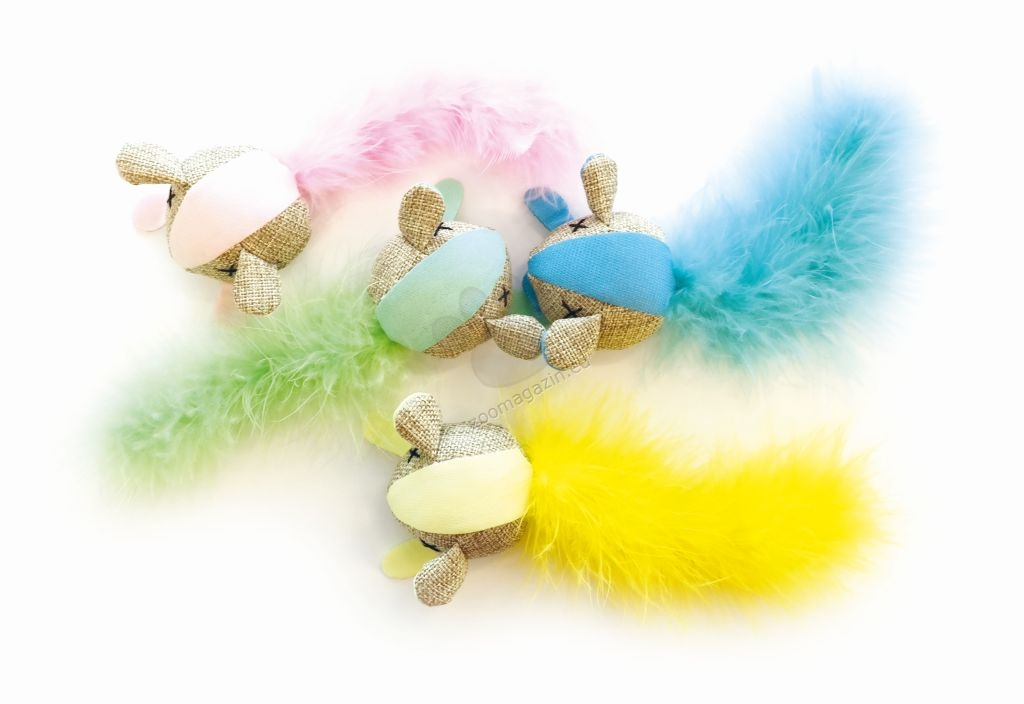 M-Pets MOUSE - Fluorescent fabric - котешка играчка флуоресциращи 17 / 7 см.