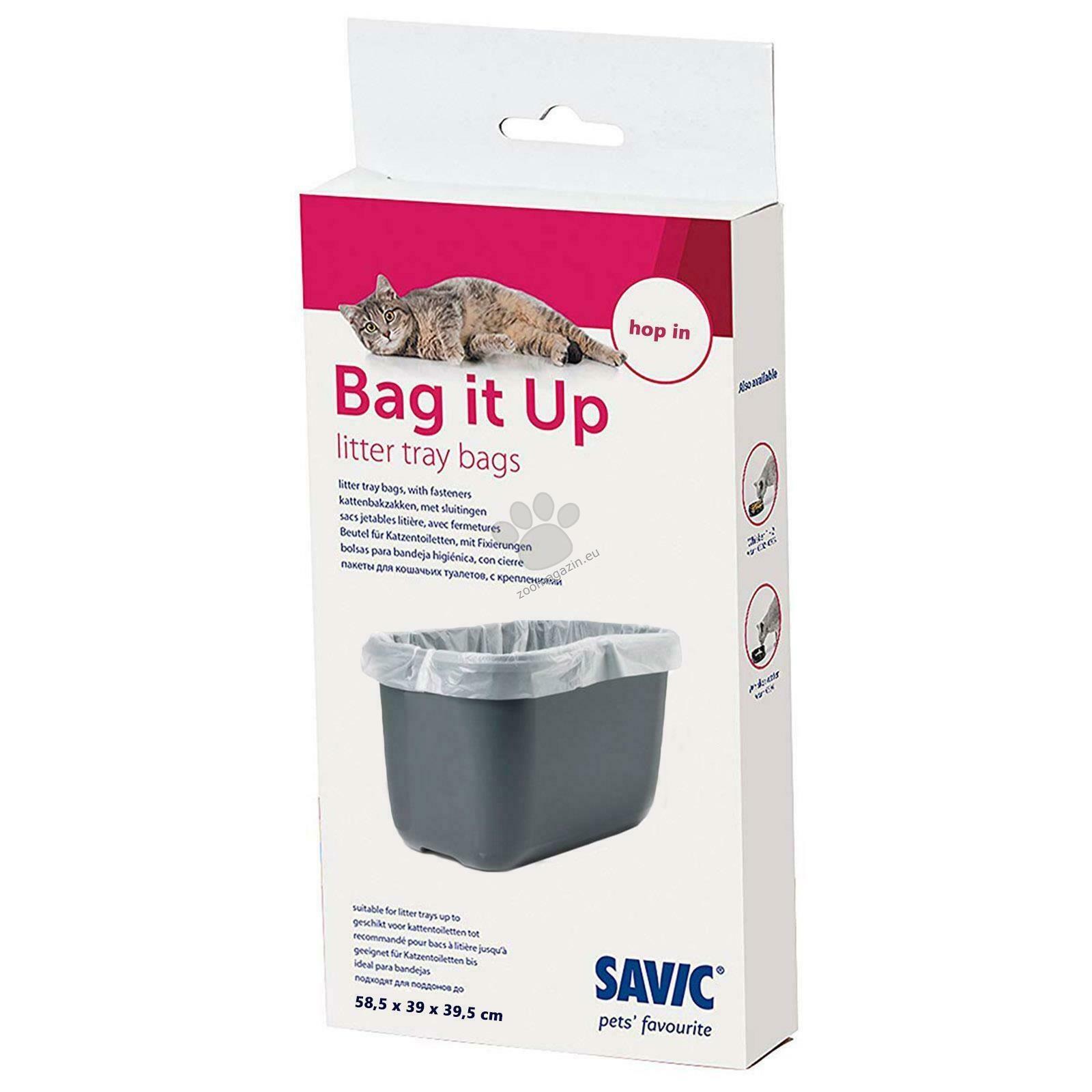 Savic Bag It Up - плик за котешка тоалетна 58.5х39х39.5 см. / 6 броя , подходящ за Hop In
