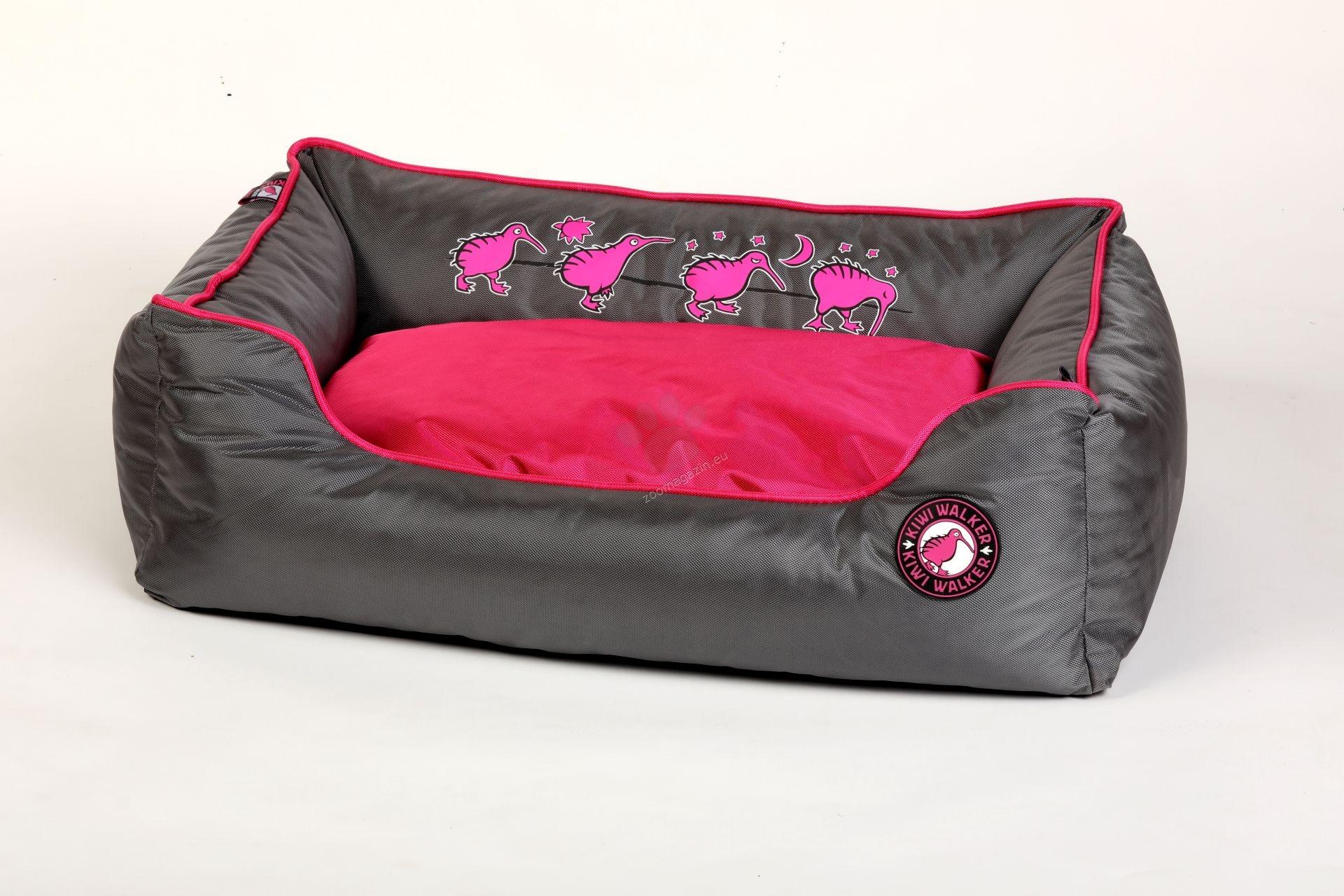 Kiwi Walker Bed Running M - ортопедично легло с мемори пяна 65 / 45 / 22 см. / розов, оранжев, зелен /