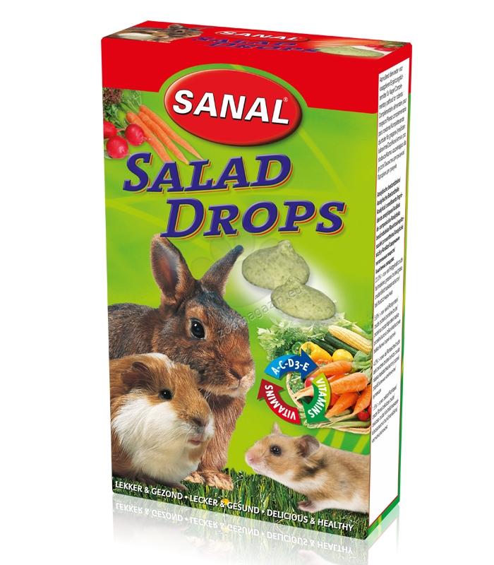 Sanal Rodent Salad Drops - зеленчукови бонбони за гризачи 45 гр.