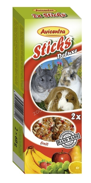 Avicentra Sticks deluxe with fruit for rabbits and other rodents - крекер с плодове 2 броя, 120 гр.