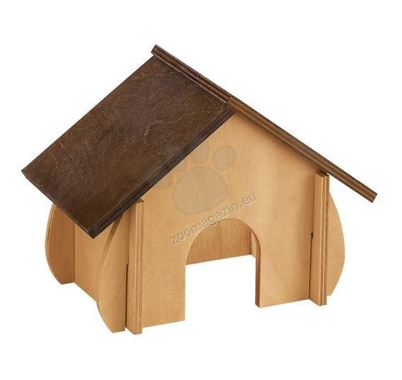 Ferplast  - sin4648 - дървена къщичка за гризачи 19 / 9,6 / 13,8 cm