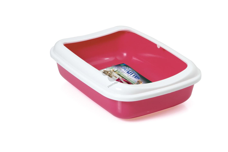 Georplast - Junior - открита котешка тоалетна с борд 38 / 28 / 10.5 см. / розова, синя, сива, черна /
