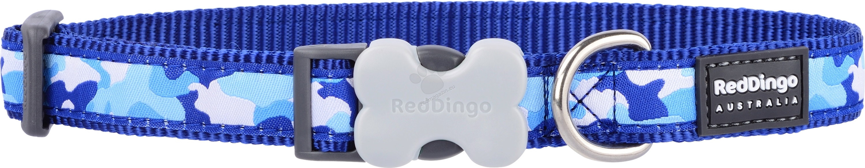 Red Dingo Camouflage Dark Blue L - нашийник, 25 мм х 41-63 см