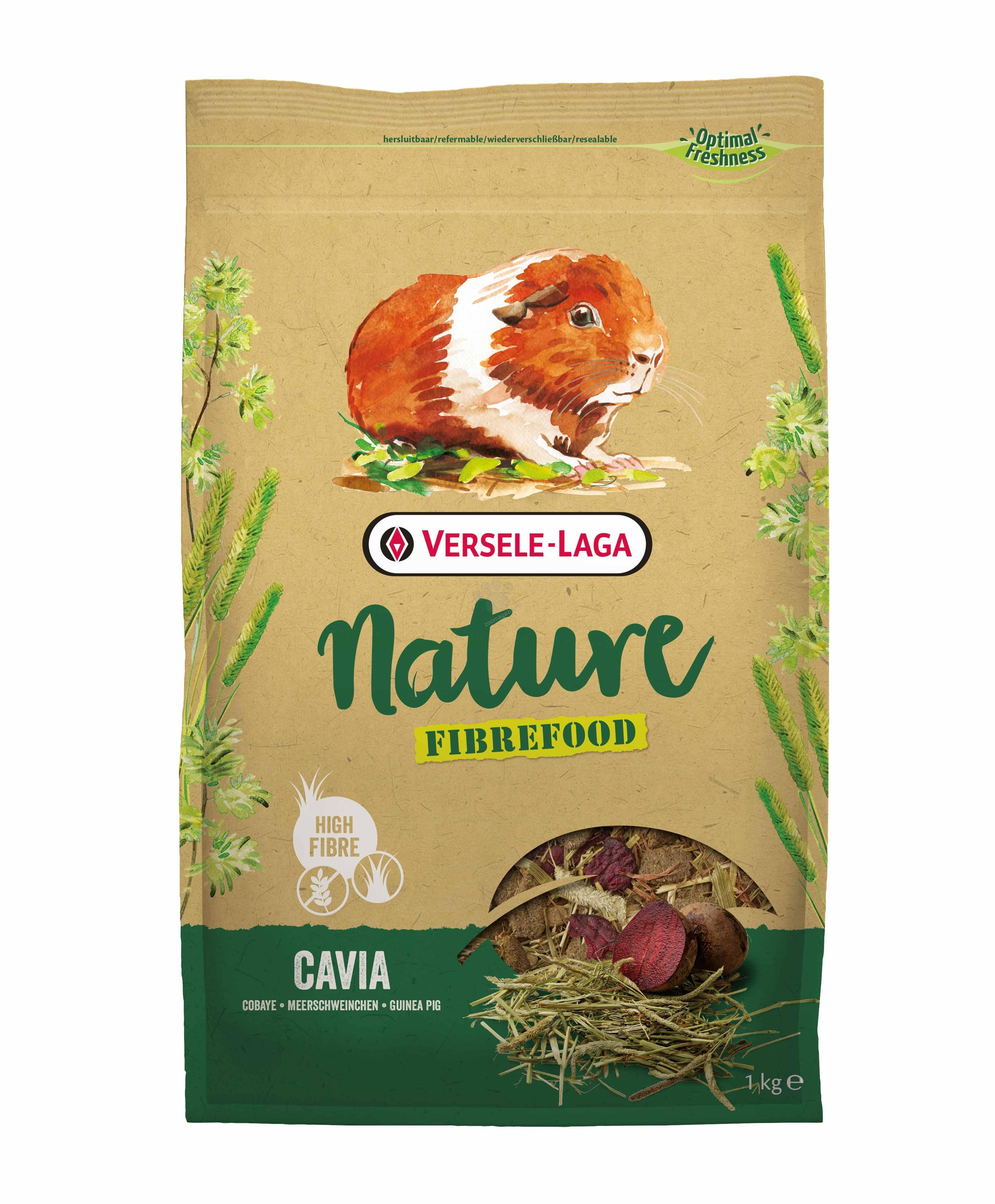 Versele Laga - Fiberfood Cavia - пълноценна храна за за морски свинчета - възрастни, капризни и живеещи у дома 1 кг.