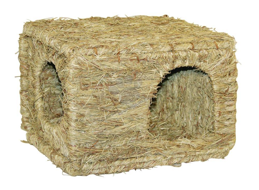 Kerbl Grass House XL - сламена къщичка 37 / 30 / 28 см.