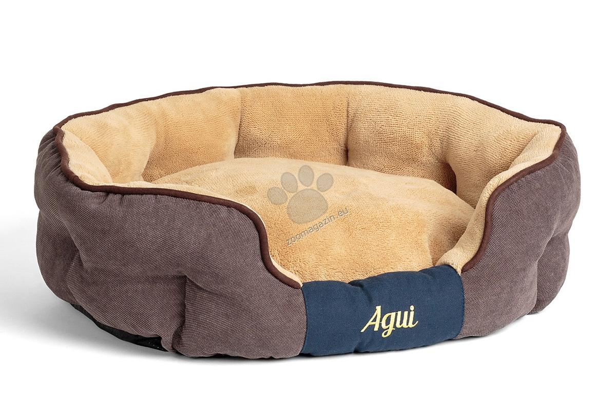 Agui Nevada Bed - луксозно меко легло 80 / 65 см. / сиво, кафяво /