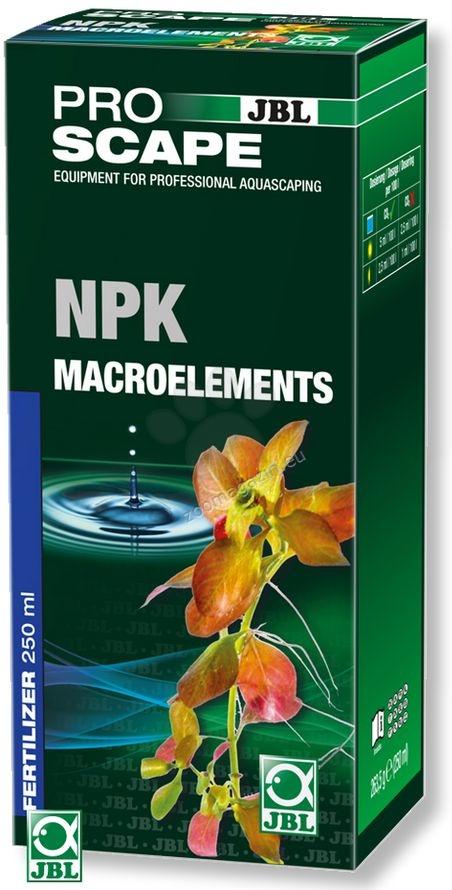 JBL ProScape NPK + Macroelements - основна тор с азотни фосфати, калий и пълните микроелементи, необходими за растенията 500 мл.