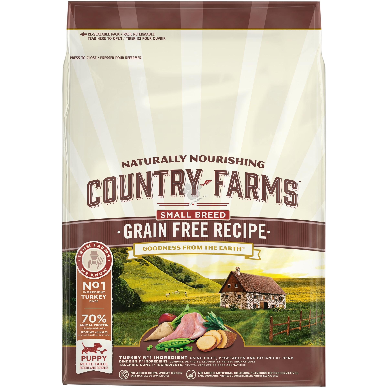 Country Farms Grain Free Small & Mini Turkey Puppy - пълноценна храна за кучета малки породи от 2 до 12 месечна възраст 2.5 кг.