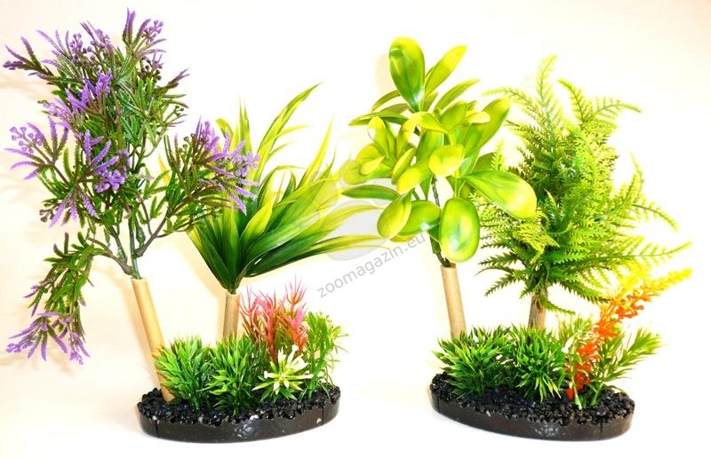 Sydeco Aqua Garden Black Style 22 см. / жълто, лилаво /